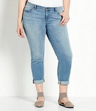 Eileen Fisher Plus Organic Cotton Boyfriend Jeans