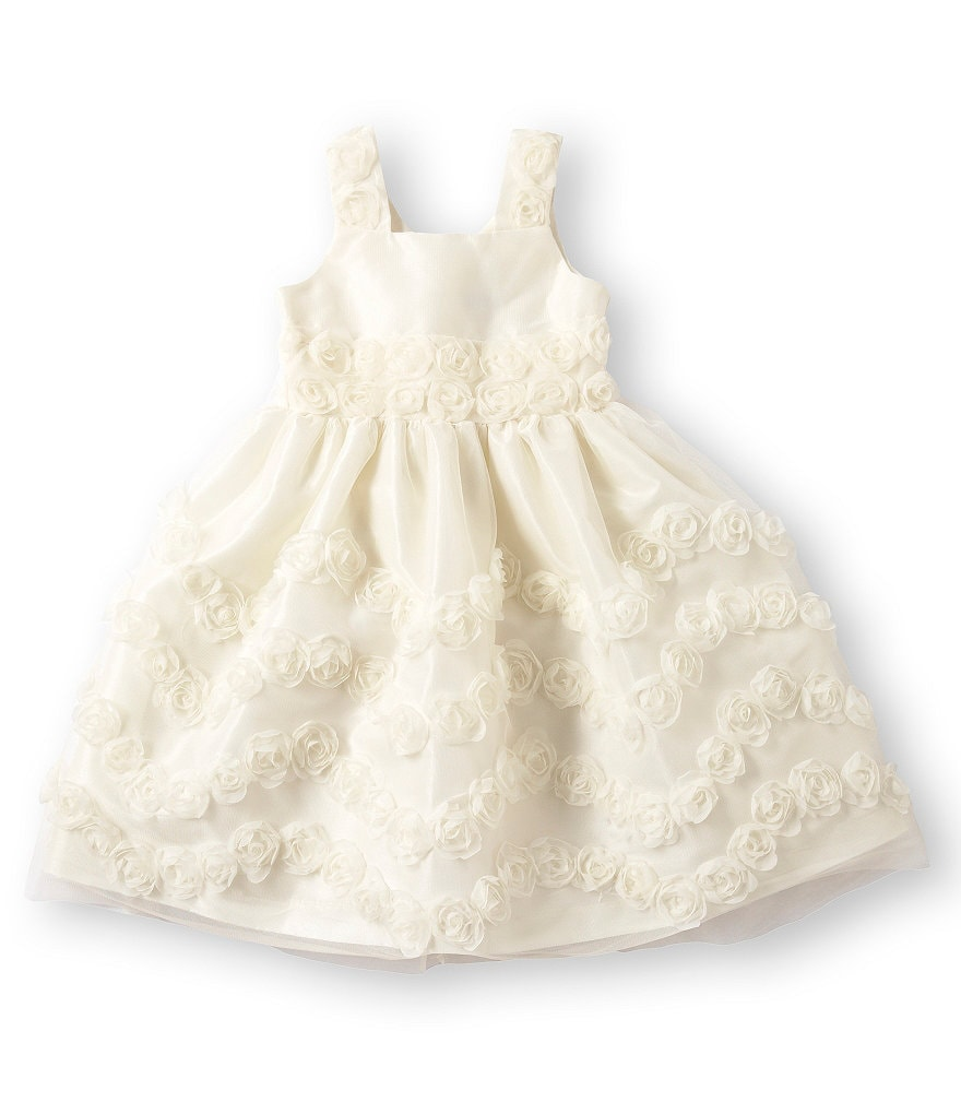Jayne Copeland 2T-6X Rosette-Soutache Dress