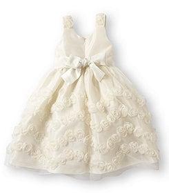 Jayne Copeland 2T-6X Rosette-Soutache Dress