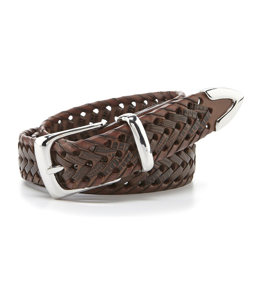 Roundtree & Yorke Braided Leather Belt