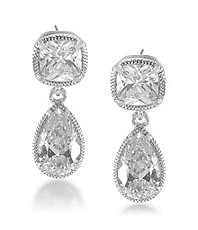 Carolee Uptown Girl Double-Drop Pierced Earrings