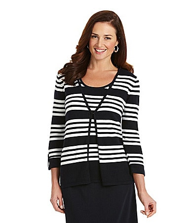 Preston & York Penelope Striped Cardigan $ 41.40