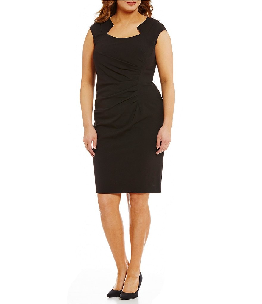Calvin Klein Plus Side-Ruched Knit Dress