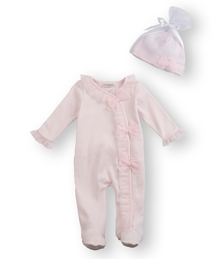 Starting Out Treasures Newborn-6 Months Bow Ruffle Coverall