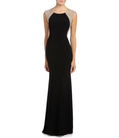 Xscape Beaded-Back Gown   Dillards