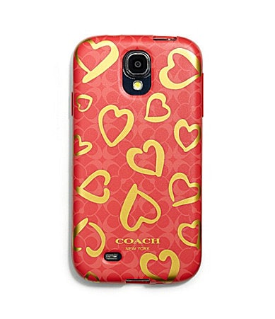COACH SAMSUNG GALAXY S4 CASE IN MULTI HEART SILICONE