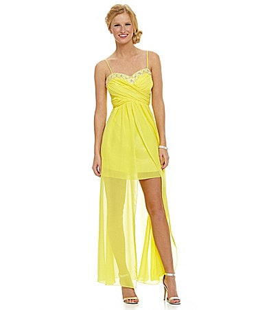 B. Darlin Spagetti-Strap Wrap Hi-Low Dress $ 65.40