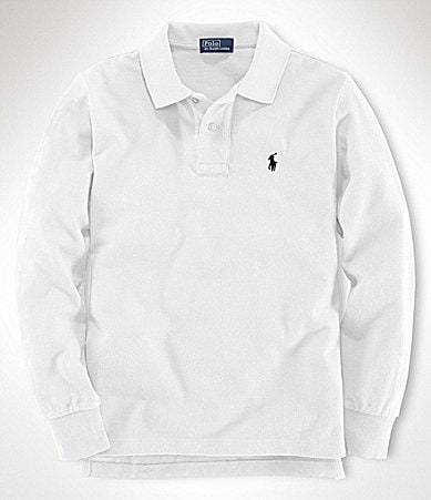 Ralph Lauren Childrenswear 8-20 Long-Sleeve Mesh Polo Shirt