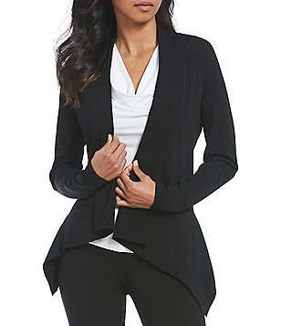 Calvin Klein Shawl Collar Open Front Knit Cardigan