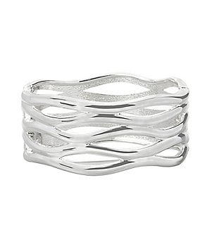 Robert Lee Morris Soho Sculptural Cut-Out Hinged Bangle Bracelet