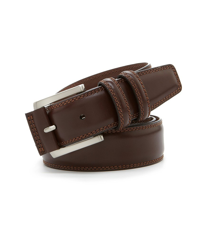 Roundtree & Yorke Big & Tall Contrast-Stitch Casual Belt