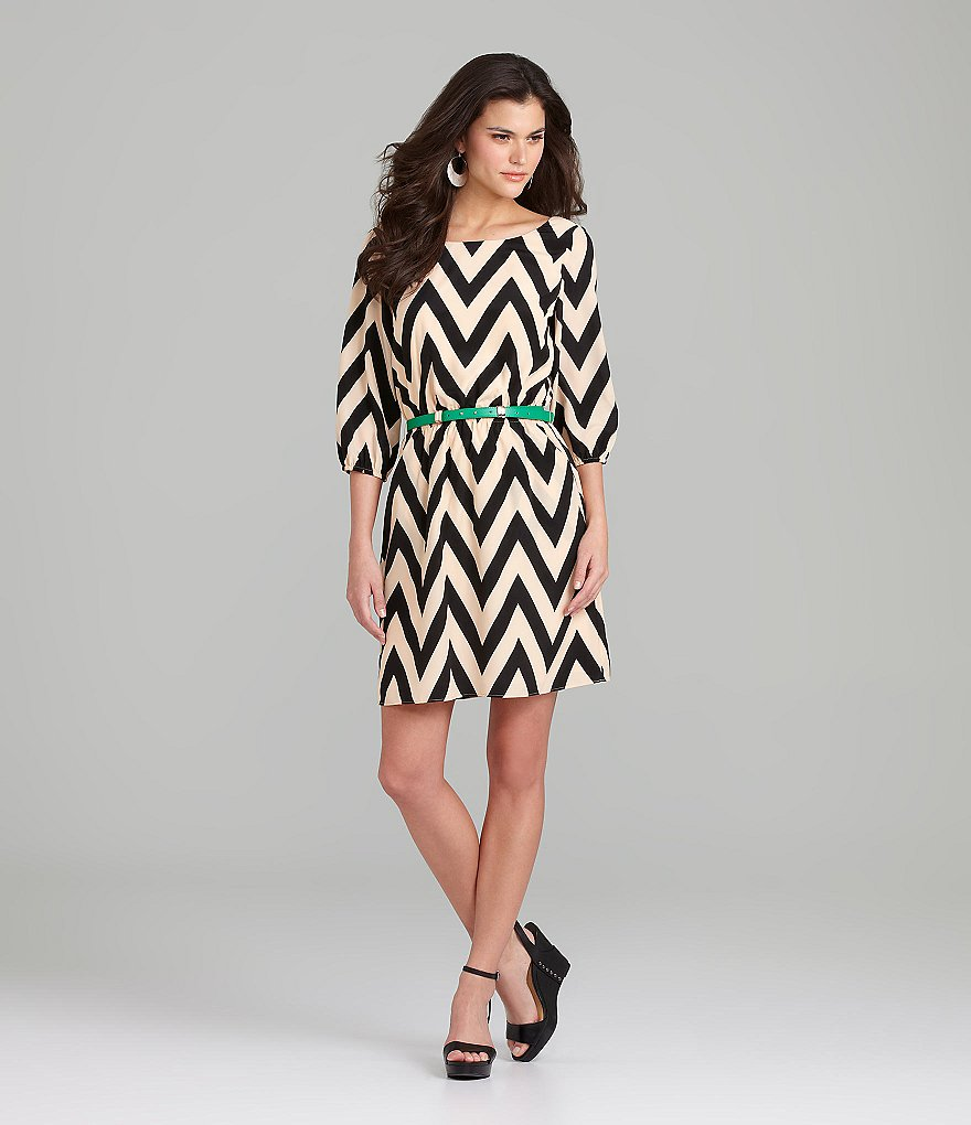 Gianni Bini Chevron Dress