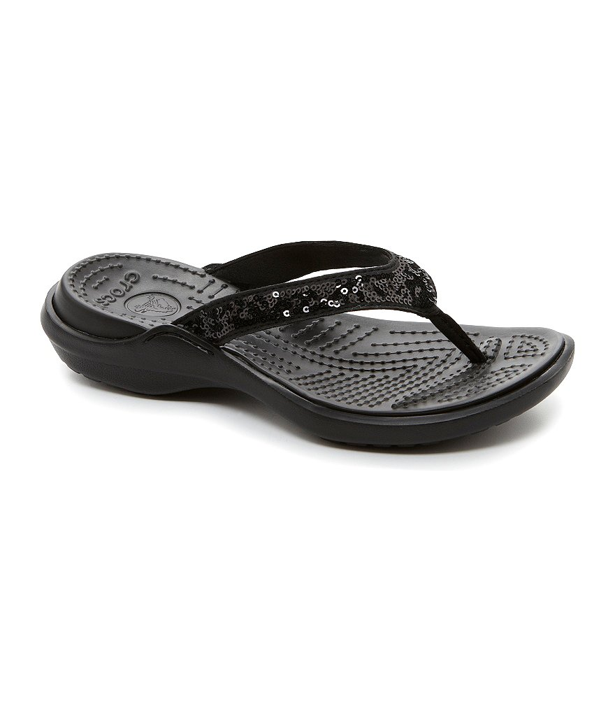Crocs Capri Sequin Flip Flop Sandals