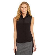 Antonio Melani Diviana Sleeveless Silk Blouse