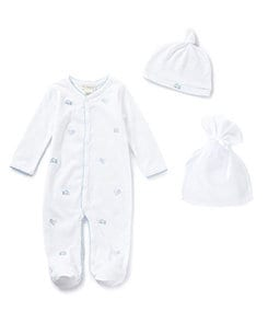 Treasures by Starting Out Newborn-6 Months Footed Coveralls