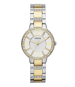 Fossil Virginia Two-Tone 3-Hand Watch