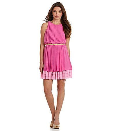 Jessica Simpson Pleated Chiffon Dress