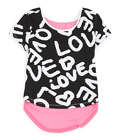 Forever Orchid 7-16 Love Conversational Top $ 22.00