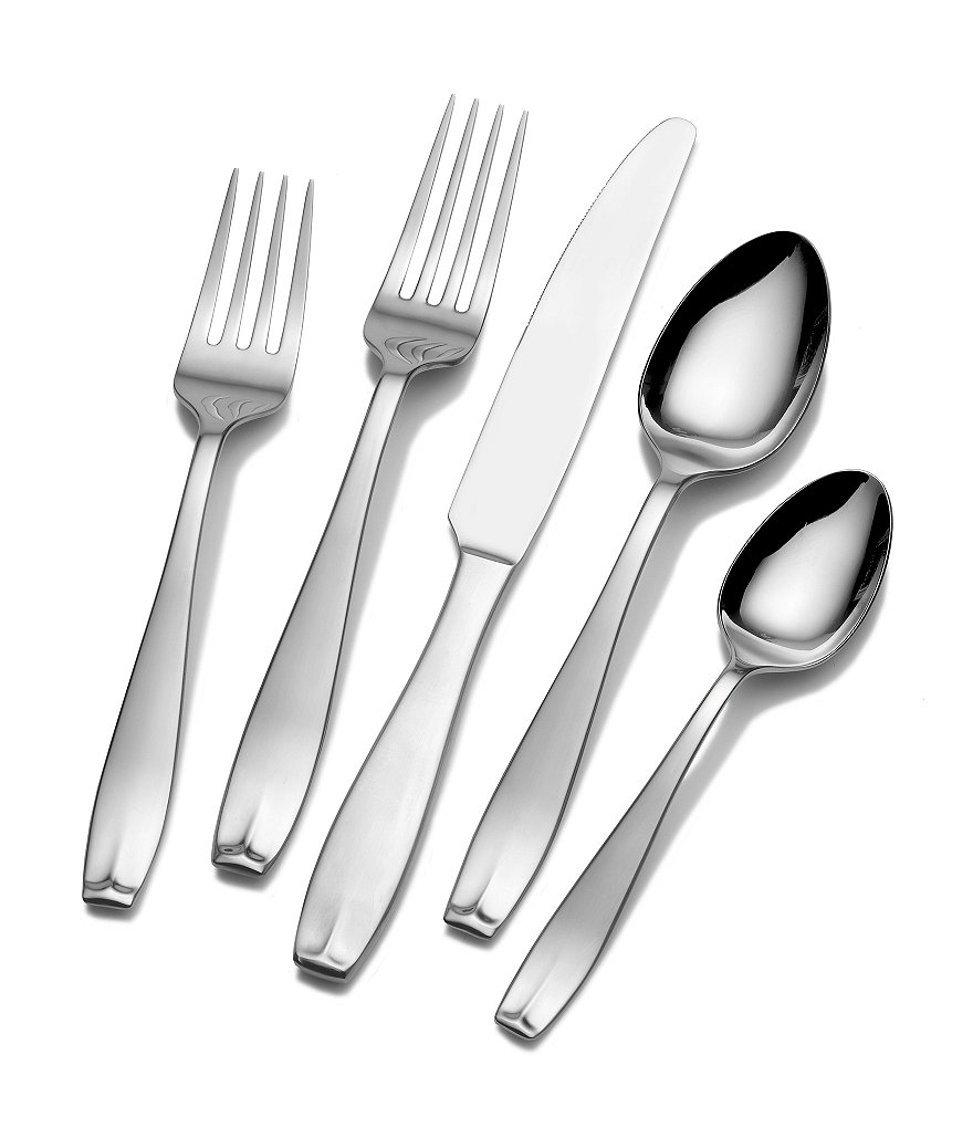 Towle Silversmiths Memoire 53-Piece Stainless Steel Flatware Set