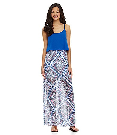 B. Darlin Popover Tribal-Print Maxi Dress $ 69.00