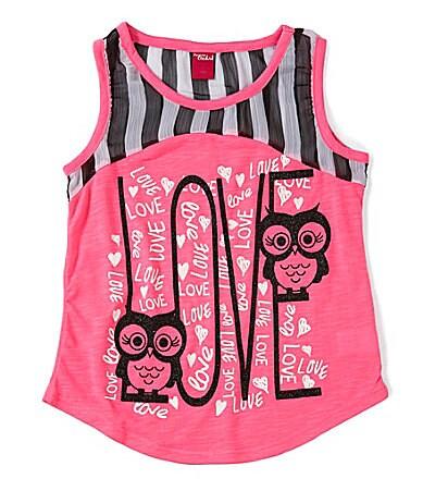Forever Orchid 7-16 Owl Love Stripe Tank $ 18.00