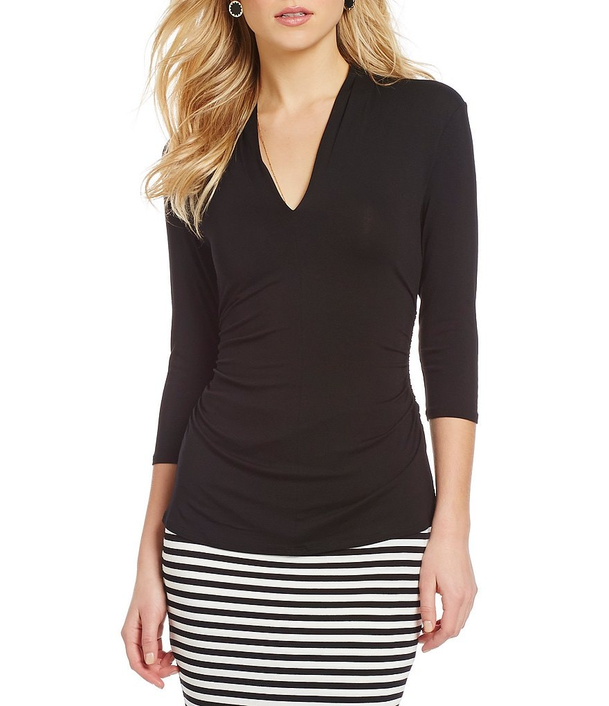 Vince Camuto Side-Ruched Top