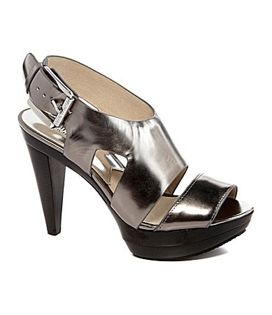 """The item """"Michael Kors Dora Black Leather Grommet Tall Boot Silver may fit 8 Logo NWOB"""" is in sale since Saturday, November 10, This item is in the category """"Clothing, Shoes & Accessories\Women's Shoes\Boots""""."""