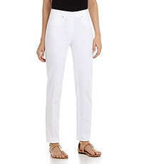 Jones New York Collection Sloane Sateen Ankle Pants