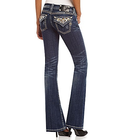 Miss Me Animal-Pocket Bootcut Jeans