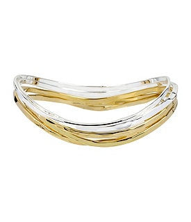 Robert Lee Morris Two-Tone Bangle Bracelet Set Image