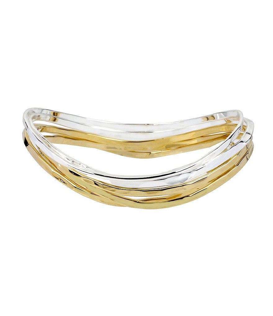 Robert Lee Morris Soho Two-Tone Bangle Bracelet, Set of 5