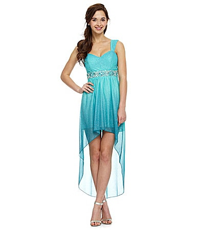 B. Darlin Wide-Strap Ombre Hi-Low Dress $ 89.00
