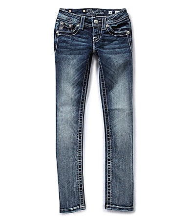 Miss Me Girls 7-16 Crystal-Border Skinny Jeans