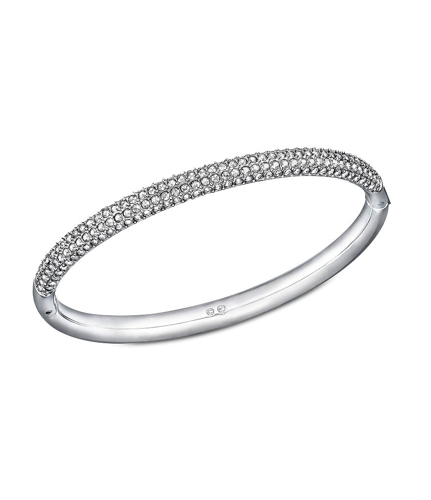 Swarovski Pavé Stone Stainless Steel Mini Bangle Bracelet