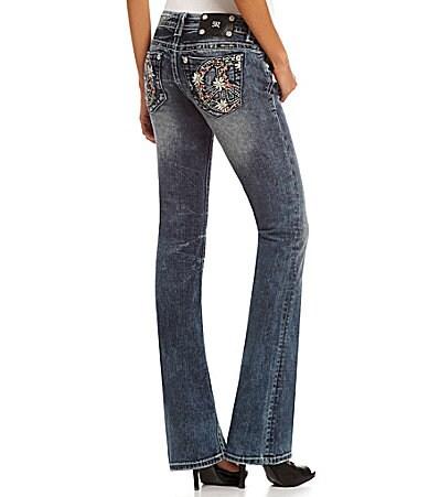 Miss Me Peace-Pocket Bootcut Jeans