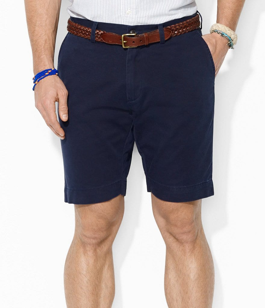 Polo Ralph Lauren Classic-Fit Flat-Front Chino Shorts