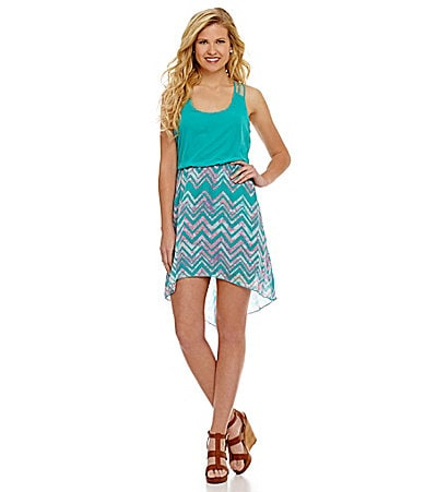 B. Darlin Racerback Chevron Hi-Low Dress $ 69.00