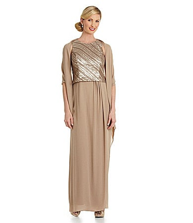 Alex Evenings Sequin-Bodice Gown $ 220.00