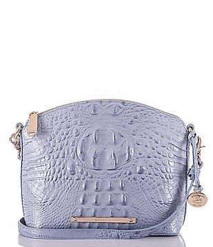 Brahmin Melbourne Collection Mini Duxbury Croco-Embossed Cross-Body Dome Bag