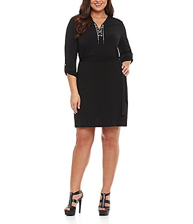 MICHAEL Michael Kors Woman Matte Jersey Chain-Tie Dress