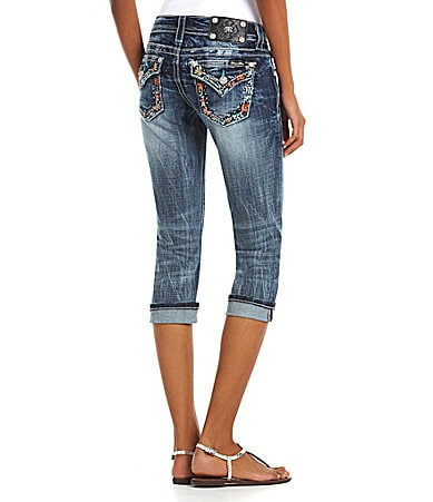 Miss Me Flap-Pocket Capri Jeans