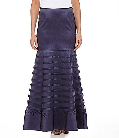 KM Collections Banded Ribbon Skirt $ 119.00