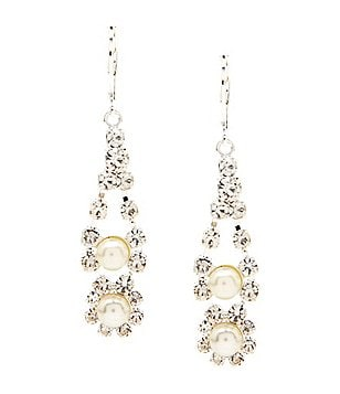 Cezanne Pearl & Rhinestone Drop Earrings