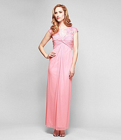 Alex Evenings Illusion-Lace Ruched Gown $ 170.00