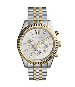 Michael Kors Men's Lexington Two-Tone Chronograph Watch