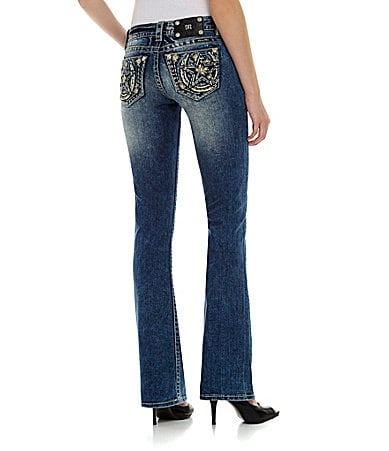 Miss Me Star/Horseshoe Relaxed Bootcut Jeans