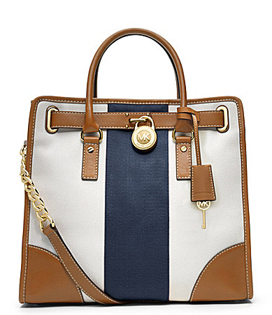 MICHAEL Michael Kors Large Hamilton North/South Mono Stripe Tote