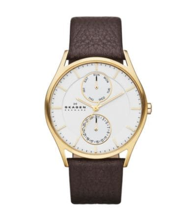 skagen multifunction leather dillards