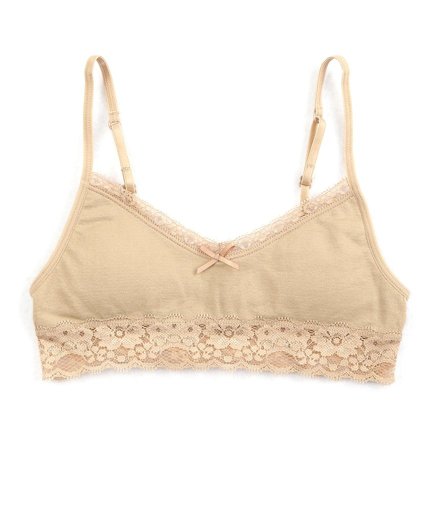 Copper Key Lace Trim Seamless Bra