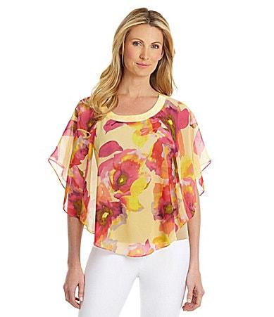 Preston & York Nala Floral Chiffon Capelet $ 59.00